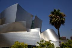 Walt Disney Concert Hall Detail sikt Arkivbild
