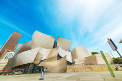 Walt Disney concert hall in downtown Los Angeles stock photos