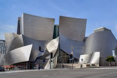 Walt Disney Concert Hall in Downtown Los Angeles royalty free stock photography