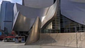 Walt Disney Concert Hall em Los Angeles - CALIF?RNIA, EUA - 18 DE MAR?O DE 2019 video estoque