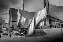 Walt Disney Concert Hall em Los Angeles - CALIF?RNIA, EUA - 18 DE MAR?O DE 2019 imagem de stock