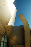 Architectural Details. The Walt Disney Concert Hall features shiny and curving aluminum exterior walls Royalty Free Stock Images