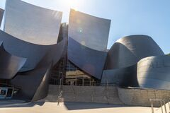 Free Walt Disney Concert Hall In Los Angeles Stock Photo - 180190690
