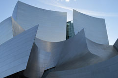 Walt Disney Concert Hall Los Angeles. Detailed View of northwest face Royalty Free Stock Photos