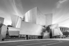 Walt Disney Concert hall. LOS ANGELES - OCTOBER 25: Walt Disney Concert hall on October 25, 2014 in LA. The concert hall houses the Los Angeles Philharmonic Royalty Free Stock Images