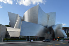 Walt Disney Concert Hall Los Angeles. Street Traffic Stock Images
