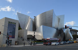 Walt Disney Concert Hall Los Angeles. With Traffic Royalty Free Stock Images