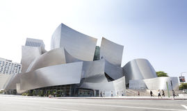 Walt Disney Concert Hall. Los Angeles, USA - August 21, 2015:  Walt Disney Concert Hall designed by architect Frank Gehry, is home of the Los Angeles Stock Photos