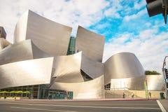 Walt Disney Concert Hall op een bewolkte dag Stock Foto