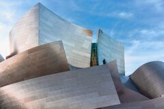 Free Walt Disney Concert Hall. The Famous Landmark  Designed By Frank Gehry, Downtown Los Angeles Royalty Free Stock Images - 177173889