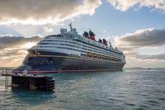 Walt Disney Cruise Ship Arkivbilder