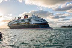 Walt Disney Cruise Ship Royaltyfri Fotografi