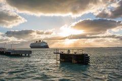 Walt Disney Cruise Ship Royaltyfria Bilder