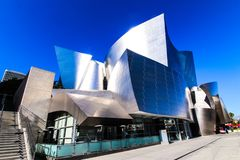 Walt Disney filharmonia w w centrum Los Angeles california obraz stock