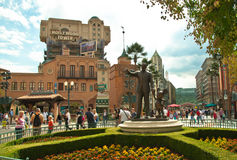 Walt Disney and Mickey Mouse monument Disneyland royalty free stock images