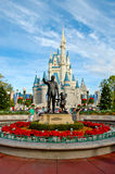 Walt Disney and Mickey Mouse statue. Statue of Walt Disney and Mickey Mouse at Disney World, Orlando, Florida stock image