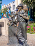 Walt Disney and Mickey Mouse statue at Disney California Adventure. ANAHEIM, CALIFORNIA - FEBRUARY 15: View Walt Disney and Mickey Mouse statue at the California Royalty Free Stock Photos