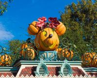minnie mouse pumpkin at disneyland halloween royalty free stock photography