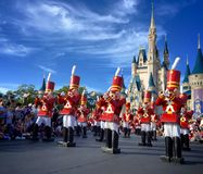 Walt Disney world Chistmas Holidays parade. Nutcrackers at Walt Disney World magic kingdom Christmas Holiday parade,Orlando,Florida 2015 Stock Images