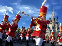 Walt Disney world Chistmas Holidays parade Royalty Free Stock Images