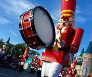 Walt Disney world Chistmas Holidays parade. Nutcrackers at Walt Disney World magic kingdom Christmas Holiday parade,Orlando,Florida 2015 Royalty Free Stock Photography