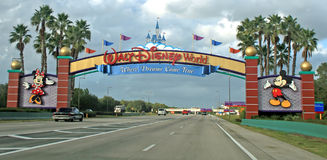Walt Disney World Entrance Fotografia Stock Libera da Diritti