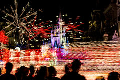 Walt Disney World Florida-nacht stock afbeelding