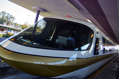 Walt Disney World Monorail Gold imagem de stock royalty free