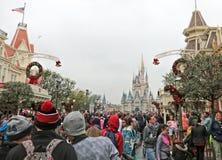 Magic Kingdom Park, Walt Disney World, Orlando, Florida. Walt Disney World, Orlando, Florida at the Magic Kingdom Park as crowds watch make their way the famous Stock Images