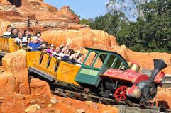 Walt Disney World Railroad ride in Magic Kingdom Theeme Family Park Stock Image