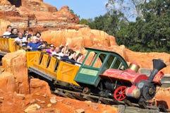 Walt Disney World Railroad ride in Magic Kingdom Theeme Family Park. Walt Disney World Railroad, Magic Kingdom, Disney World Resort, Orlando, Florida Stock Image
