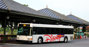 Walt Disney World transportation system bus station. Hop on a bus at the Walt Disney World transportation system bus station Royalty Free Stock Image
