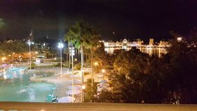 Walt Disney World Yacht Club Resort 3. View of pool from balcony at Walt Disney World Yacht CLub Resort in Orlando ,Florida Stock Photography