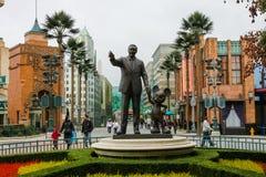 Walt och Mickey staty Arkivfoto