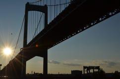Walt Whitman桥梁 库存照片
