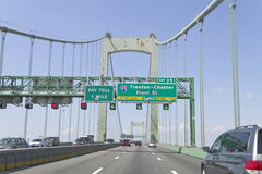 Walt Whitman Bridge Traffic Royalty Free Stock Image