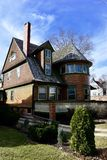 Walter H. Gale House. This is an early Spring picture of the historic The Walter H. Gale House located in Oak Park, Illinois in Cook County. This two-story Royalty Free Stock Photo