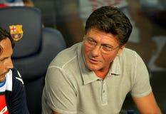 Walter Mazzarri coach of SSC Napoli Royalty Free Stock Photography