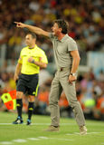 Walter Mazzarri of SSC Napoli. Walter Mazzarri coach of SSC Napoli during Joan Gamper Trophy match between FC Barcelona and SSC Napoli at Nou Camp Stadium in Stock Photo
