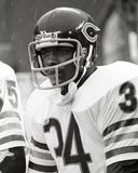 Walter Payton Chicago Bears. Walter Payton of the Chicago Bears waiting to get back into the game Royalty Free Stock Images