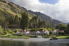 Walter Peak High Country Farm famoso em Queenstown, Nova Zelândia imagens de stock royalty free