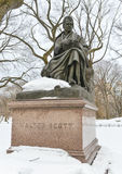 Walter Scott, Central Park, NYC. Walter Scott monument, Central Park, New York during wintertime Stock Images