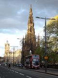 Walter Scott Monument in Edinburgh Stockbilder