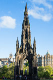 Walter Scott Monument in Edinburgh Stock Images