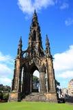 The walter scott monument on princess street, Edinburgh Royalty Free Stock Image
