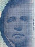 Walter Scott portrait. From Scottish money Stock Photos