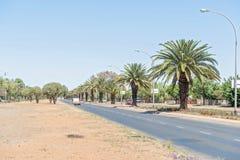 Walter Sisulu Road i Bloemfontein Arkivbild