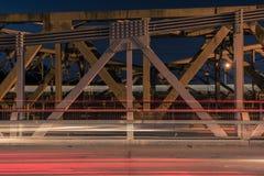 Walter Taylor Bridge in Brisbane Royalty-vrije Stock Fotografie