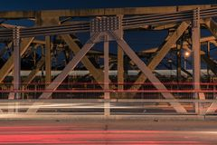 Walter Taylor Bridge in Brisbane. Walter Taylor Bridge also known as Indooroopilly Bridge in Brisbane, Queensland royalty free stock photography