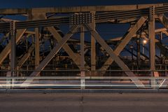 Walter Taylor Bridge in Brisbane. Walter Taylor Bridge also known as Indooroopilly Bridge in Brisbane, Queensland stock image